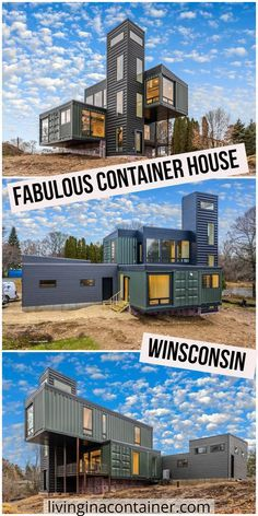 Shipping Container Buildings, Cargo Container Homes, Shipping Container Home Designs, Building A Container Home, Cost Of Shipping Container, Shipping Containers, Shipping Container Workshop, Container Architecture, Sustainable Architecture