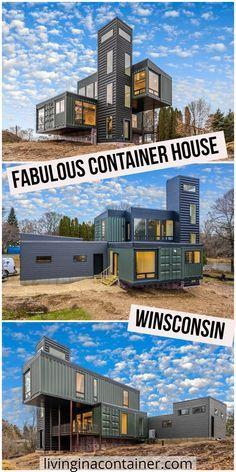 Building Design, Building A House, Shipping Container Home Designs, Shipping Containers, Cost Of Shipping Container, Shipping Container Buildings, Container Architecture, Sustainable Architecture, Architecture Design