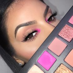 "New creation of make-up look with the Kylie Cosmetics ""sipping pretty . Makeup Eye Looks, Cute Makeup, Perfect Makeup, Glam Makeup, Pretty Makeup, Skin Makeup, Makeup Inspo, Eyeshadow Makeup, Eyeliner"