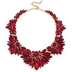 Sole Society Floral Cluster Necklace ($80) ❤ liked on Polyvore featuring jewelry, necklaces, red, floral jewelry, floral jewellery, cluster bib necklace, sole society and red jewellery