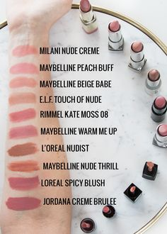 the best drugstore nude lipsticks
