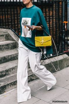 London Fashion Week весна-лето 2018 - street style