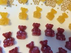 Homemade Gummy Bears (Real Fruit) - Gemma's Bigger Bolder Baking Homemade Gummy Bears, Bigger Bolder Baking, Honey Lemon, How To Make Homemade, 4 Ingredients, Cookies Et Biscuits, A Food, Food Processor Recipes, Strawberry