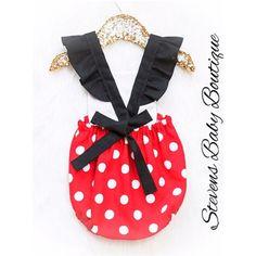 The ORIGINALRed & White polka dot Minnie Mouse inspired