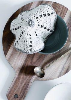1609 Grytekluter. Heklet Potetlokk Crochet Hats, Knitting, Knits, Pink, Trapper Keeper, Circuit, Knitting Hats, Tricot, Breien