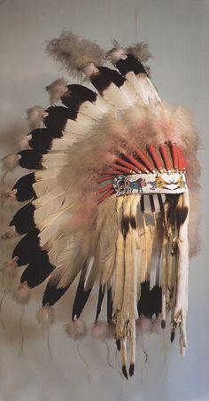 Feather bonnet of Lakota primary                           nation