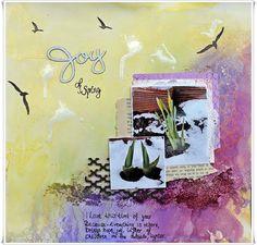Jorunn`s Fristed: Joy of Spring. Mini Albums, Bloom, Layout, Easter, Scrapbook, Joy, Canvas, Spring, Creative