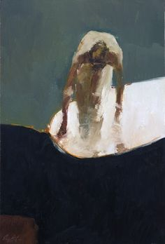 """Danny McCaw """"The Bather"""" I love how the planes of the figure are so simplified and yet so convincing"""