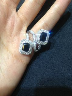 FMJ CUSTOM ALERT!!! Outstanding 18K white gold ring containing 4.25cts. of Sapphire and 1.50cts. of Diamond. Top Quality!