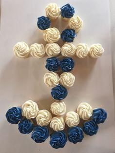 Nautical cupcake cake