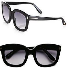 fc528ccfd3701 Tom Ford Eyewear Christophe 53mm Square Sunglasses Black on shopstyle.com Tom  Ford Eyewear