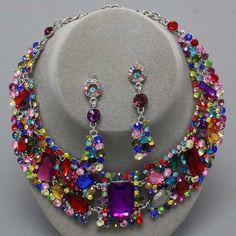 Necklace Set Bridal Costume Jewelr
