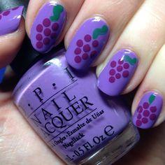 grapes nail art designs
