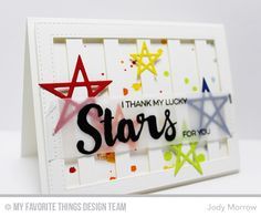 Handmade card from Jody Morrow featuring Laina Lamb Designs Count the Stars, Lucky Stars Die-namics, and Stars & Wishes Die-namics.