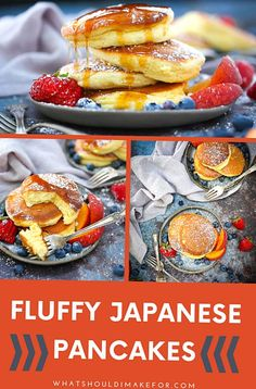 These fluffy Japanese pancakes have a light and airy souffllike texture are completely addictive AND YES you can make them right in your own kitchen
