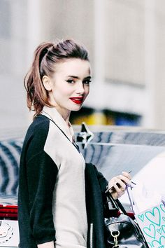 Lily Collins, I love her make up