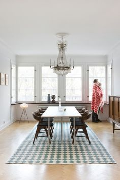 Brita Sweden Gerda Rug in seagreen.  Available in 150x200cm.  Fully reversible and machine washable.