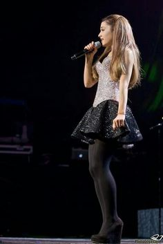 arianagrandetights: Ariana Grande - black tights and heels - Paulos Young Ariana Grande Tights, Ariana Grande Legs, Tights And Heels, Black Tights, Opaque Tights, Wool Tights, Nude Tights, Pantyhose Outfits, In Pantyhose