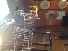 Cool old egg baskets!! You could do so many cool things with them!