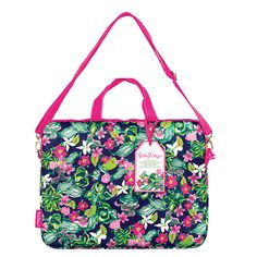 This protective Lilly Pulitzer Laptop Tote, made from durable neoprene, will keep your laptop computer safe and sassy. And the adjustable and detachable shoulder strap let's you choose between an over the shoulder, cross-body, or handle carrying style. Add a splash of color that's sure to brighten your day!  Psst... This Lilly Pulitzer laptop tote will make you the envy of classmates or coworkers, so when they ask, be sure to tell them you got your Lilly laptop bag at ...