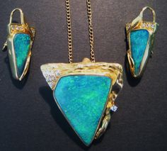 Magnificent Australian Queensland Boulder Opal Necklace and Earrings - available in out beautiful Opal Store :)
