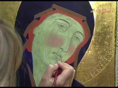 La tempera all'uovo - Cennino Cennini sec. Painting Videos, Painting & Drawing, Writing Icon, Holy Mary, Tempera, Sacred Art, 14th Century, Ikon, Photo Art