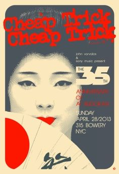 Cheap Trick – Budokan 35th Anniversary Event  http://www.popmarket.com/cheap-trick-budokan-35th-anniversary-event/details/28179012?cid=social-pinterest-m2social-product_country=US=share_campaign=m2social_content=product_medium=social_source=pinterest