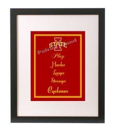 Iowa State Cyclones Football Art Print by PatriotIslandDesigns, $14.00