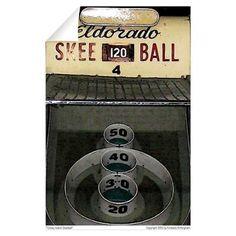 """Coney Island Skeeball"" by Kimberly Brittingham Wall Decal"