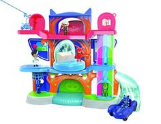 Just Play PJ Masks Headquarters Playset - PJ Masks fans will have a blast with the action-packed PJ Masks Headquarters Playset! Inspired by the hit TV show PJ Masks, this double-sided playset is over 2 feet tall and has three action packed, character themed levels filled with engaging kid-powered features resulting in super-sized fun. Th...