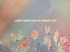 eu nao sei como esquecer voce