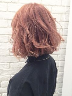 【ALBUM原1】能瀬_ピンクベージュボブ_ba7473 - 24時間いつでもWEB予約OK!ヘアスタイル10万点以上掲載!お気に入りの髪型、人気のヘアスタイルを探すならKirei Style[キレイスタイル]で。
