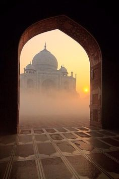 Doorway to the Taj Mahal, India. I was blessed to watch the sunrise while at the Taj Mahal and will never forget how it felt. Stunning, magnificent and so peaceful. Taj Mahal India, India India, Places To Travel, Places To See, Travel Destinations, Places Around The World, Around The Worlds, Beautiful World, Beautiful Places