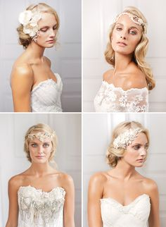 Jannie Baltzer 2013 Wedding collection, via Magnolia Rouge Wedding Looks, Bridal Looks, Dream Wedding, Wedding Bride, Headpiece Wedding, Bridal Headpieces, Wedding Hair And Makeup, Hair Makeup, Wedding Trends