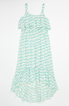 Mint striped dress is perfect for our spring fun days! Roxy 'Take Me Out' Maxi Dress (Big Girls) | Nordstrom