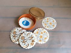 Vintage GDR Paper coasters Unused box
