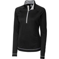 Cutter & Buck Women's DryTec Long Sleeve Evolve Half-Zip Golf Jacket, Size: Medium, Black