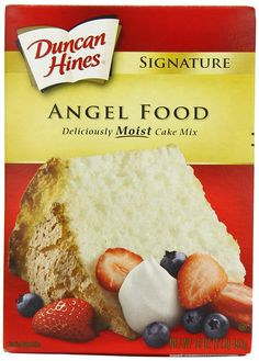 Duncan Hines Signature Cake Mix Angel Food 16 Ounce Pack of 6 >>> Find out more about the great product at the image link. (This is an affiliate link) Summer Dessert Recipes, Delicious Desserts, All You Need Is, Gourmet Recipes, Baking Recipes, Gluten Free Angel Food Cake, Angle Food Cake Recipes, Cake Mix Cupcakes, Duncan Hines