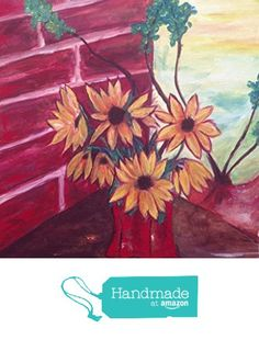 Brown Eyed Susan in a Vase 14 x 18 Original Acrylic Painting by Roxy Rich from Chateau Roxy Art Boutique https://www.amazon.com/dp/B01A2RS0YS/ref=hnd_sw_r_pi_awdo_XaCDxbXKT25MN #handmadeatamazon