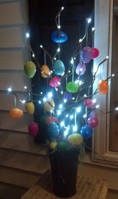 Outdoor Easter Lights Outdoor easter decorations 27 ideas for garden and entry into the easter party easter food easter crafts holiday crafts easter eggs easter ideas spring crafts holiday fun easter wreaths workwithnaturefo