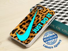 Nike Just Do It Leopard iPhone4,4s,5,5s,5c,6,6 plus,SamsungS3,S4,S5,iPod 4.5Case