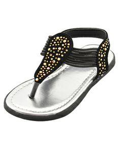 """Rugged Bear Girls """"Iridescent Gem"""" Sandals (Toddler Sizes 5 – 10) - CookiesKids.com"""