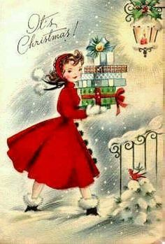 Old Christmas – Bing pictures - Christmas Cards Vintage Christmas Images, Old Christmas, Old Fashioned Christmas, Christmas Scenes, Retro Christmas, Christmas Pictures, Christmas Crafts, Christmas Decorations, Vintage Holiday