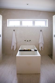 I once had a Japanese bath in our floating home.  It was awesome!  \\ \\ marfa house bath http://barbarahilldesign.com/