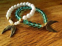 #FriendshipBracelets #BraceletsForFun #BraceletsLucky #BraceletsForAbundance #BraceletsOfLove #BraceletsForYou #AngelWings #Wings #White #Gold #Turquoise #Beads https://www.facebook.com/ensistore