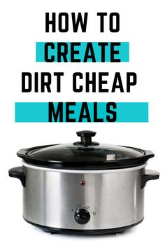 Stop searching for recipes. You don't need to spend money on extra groceries! Here's how you can pull together DIRT CHEAP meals with items you already have on hand. Bonus printable to help you! Dirt Cheap Meals, Cheap Dinners, Discount Grocery, Cheap Meal Plans, Low Budget Meals, Pantry List, One Pot Dishes, Drying Pasta
