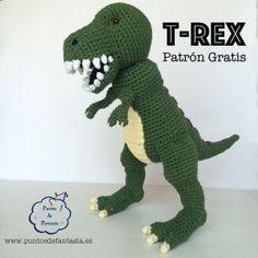 dinosaurio t-rex patron amigurumi