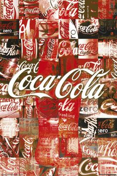 Coca Cola, the worlds most famous soda. The true masters of advertising and marketing, almost everybody has heard of or at least drank Coca Cola. They're logo can be recognized all around the world. Coca Cola Poster, Coca Cola Ad, Always Coca Cola, World Of Coca Cola, Coca Cola Vintage, Vintage Ads, Vintage Logos, Collages D'images, Sodas