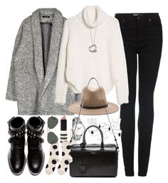 """""""Outfit for the winter holidays"""" by ferned on Polyvore featuring Topshop, MANGO, rag & bone, Yves Saint Laurent, Hansel from Basel, Elsa Peretti, Ray-Ban, women's clothing, women's fashion and women"""