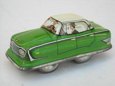 Vintage Tin Litho, Made In West Germany Wind-Up Toy Car